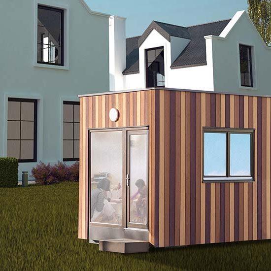 Ein Containerhaus als Homeoffice im eigenen Garten