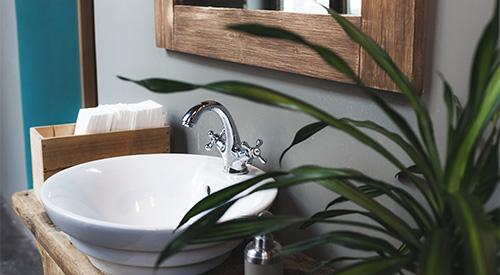 Ein Workspace inklusive Badezimmer