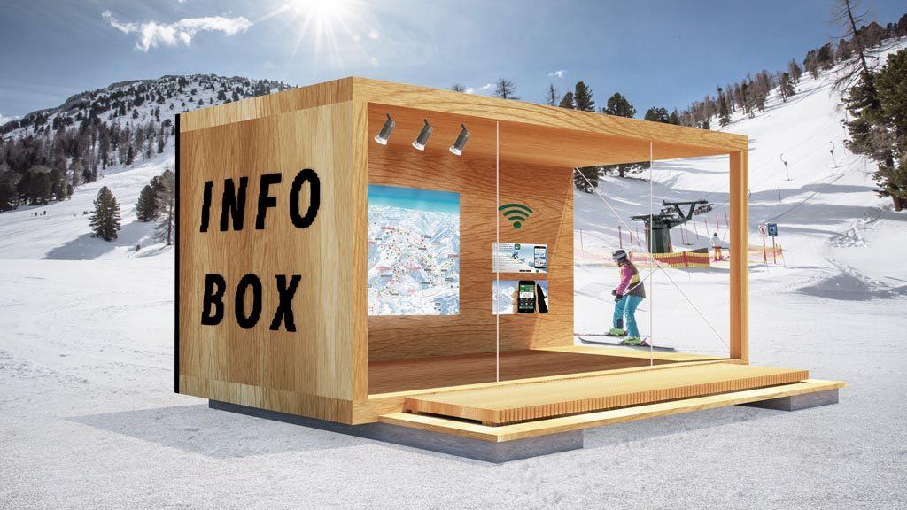 Das Chalet als Eventlocation im Skigebiet