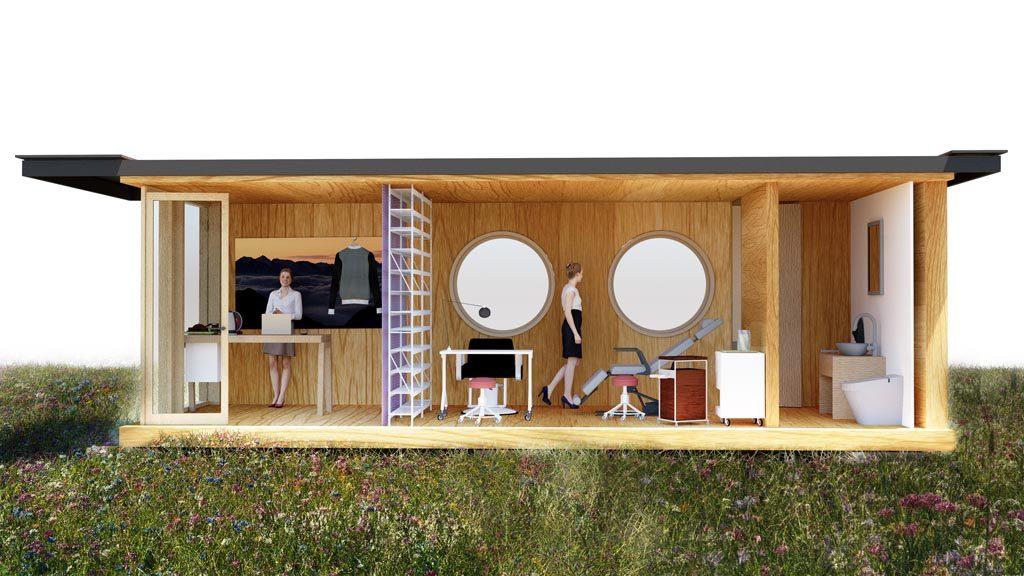 Ein Beautysalon im individuell gestalteten Containerhaus