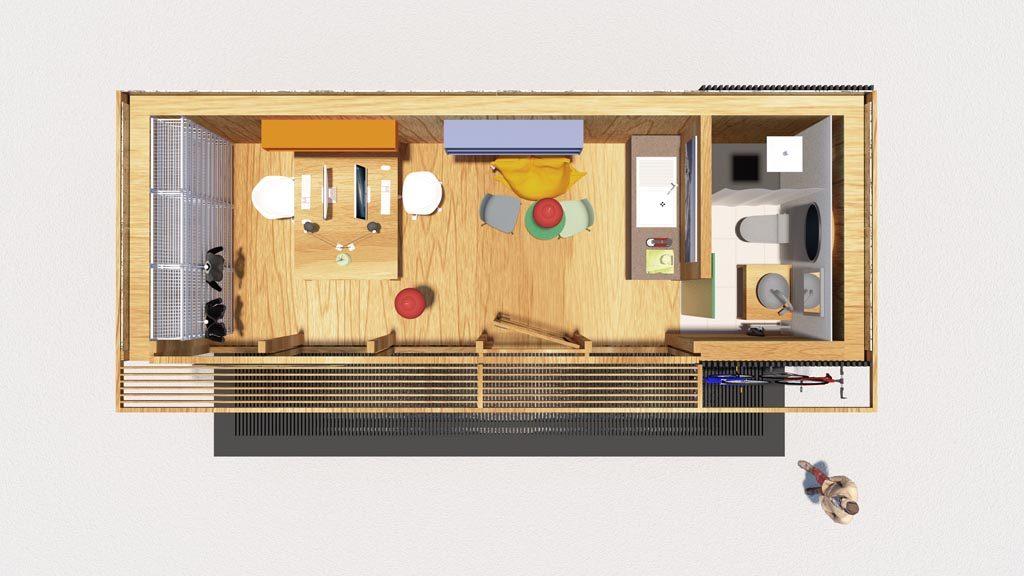 Ein Workspace mit viel Raum