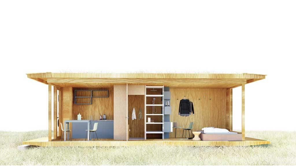 Ein Wohncontainer als ökologisches Minihaus