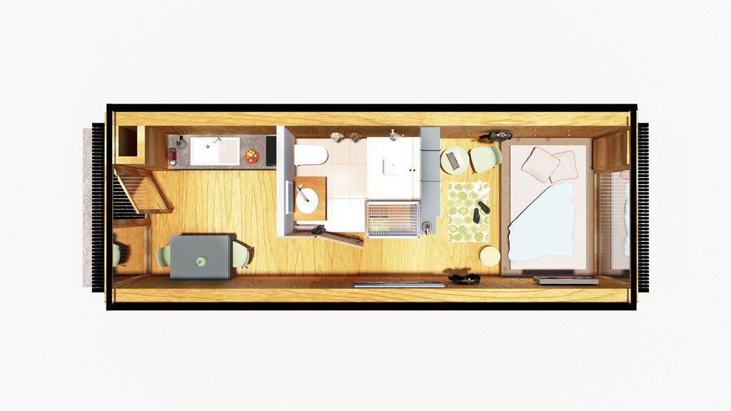 So kann Ihr Wohncontainer aussehen!